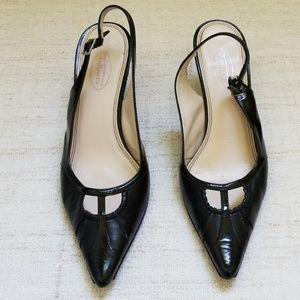 TALBOTS Black Slingback Heels